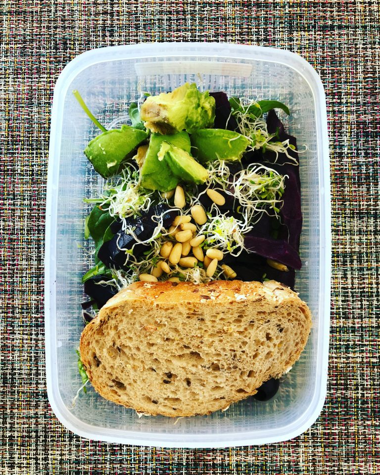 Spinach Avocado Pine Seeds Mealprep
